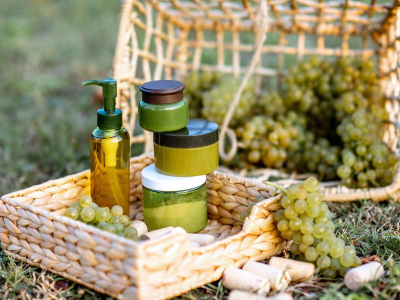 Produits cosmétiques raisin
